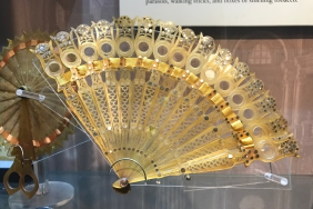 Each arm of this fan contains a magnifying glass. Perfect for spying on people at the opera.