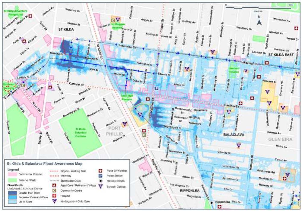 2018 SES flood awareness map
