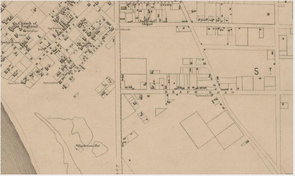 1855 Kearney-close up main drain area